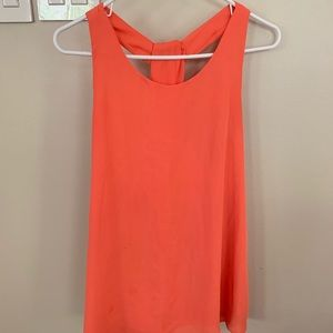 Salmon cross body tank top